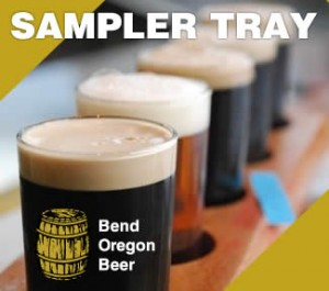 Bend Oregon Beer Sampler Tray